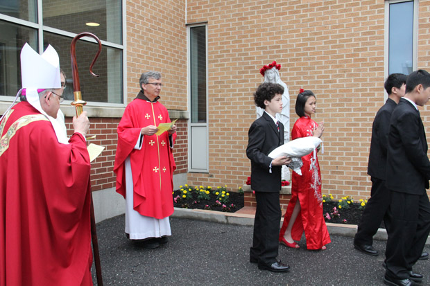 Archbishop Charles Chaput at Holy Redeemer Parish in Philadelphia